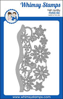 Whimsy - Slimline Die - Elegant Snowflakes and Border