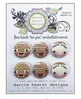Darcie Heater Designs Flat Back Tin Pin - Waffle Lot - DHD417
