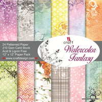 ICraft Paper Collection - Watercolor Fantasy 11.5 x 11.5 inches