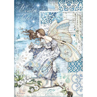Stamperia - Rice Paper Sheet A4  - Winter Tales - Fairy In The Wind