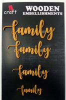 ICraft Wooden Embellishments - Family