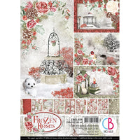 Ciao Bella - Double-Sided Creative Pack 90lb A4 9/Pkg - Frozen Roses
