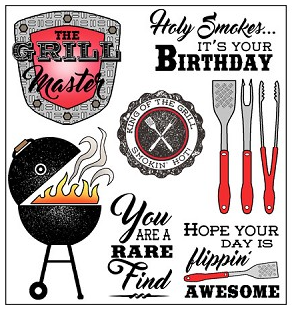 Darcie's Clear Polymer Stamp Set - Grill Master - POL322