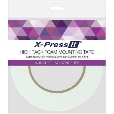 "X-Press It High Tack Foam Mounting Tape 1/2"" - Class Act Scrapbooking"