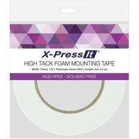 X-Press It High Tack Foam Mounting Tape 1/2