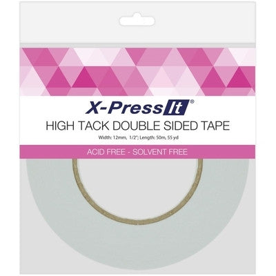 "X-Press It High Tack Double-Sided Tissue Tape 1/2"" - Class Act Scrapbooking"