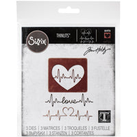 Sizzix - Thinlits Dies By Tim Holtz - Heartbeat
