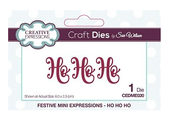 Creative Expressions Dies: Mini Expressions Collection Ho Ho Ho - CEDME020
