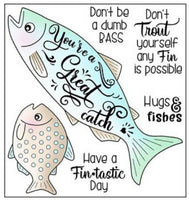 Darcie's Clear Polymer Stamp Set - Hugs & Fishes - POL391