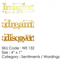 ICraft Wooden Embellishments - Dream Discover Imagine