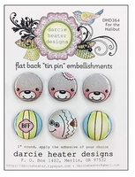 Darcie Heater Designs Flat Back Tin Pin - For the Halibut - DHD364