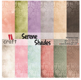 "ICraft Paper Collection - Serene Shades 8""x8"""