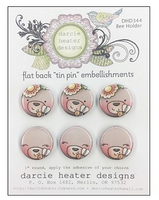 Darcie Heater Designs Flat Back Tin Pin - Bee Holder - DHD344