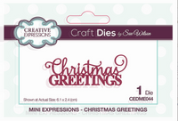 Creative Expressions -Mini Expressions collection - Christmas Greetings - CEDME044