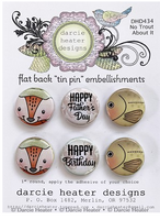 Darcie Heater Designs Flat Back Tin Pin - No Trout About It - DHD434
