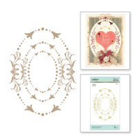 Imperial Adorned Ovals Glimmer Hot Foil Plate Royal Flourish by Becca Feeken