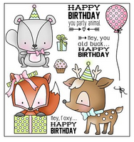 Darcie's Clear Polymer Stamp Set - Party Animal - POL305
