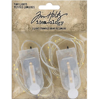 Idea-Ology/Tim Holtz - Battery Operated Wire Light Strands 2/Pkg - Tiny Lights