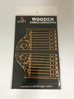 ICraft Wooden Embellishments - Gate - We-049