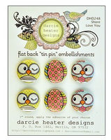 Darcie Heater Designs Flat Back Tin Pin - Shore Love You - POL248