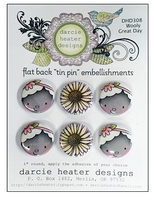Darcie Heater Designs Flat Back Tin Pin - Wooly Great Day - DHD308