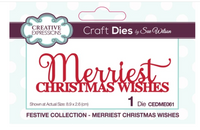 Creative Expressions - Mini Expressions Collection - Merriest Christmas Wishes - CEDME061