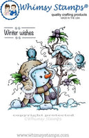 Whimsy Stamps - Miss Frosty Rubber Cling Stamp