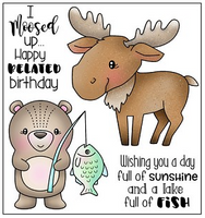 Darcie's Clear Polymer Stamp Set - Moosed Up - POL394