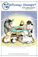 Whimsy - Cling Rubber Stamp - Nativity Critters - C1260