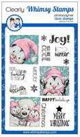 Whimsy - Clear Stamp Set - Penguin Holiday Squares - C1317