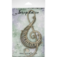 Scrapaholics - Piano Treble Clef Chipboard