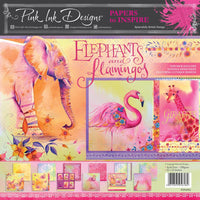 Pink Ink - Elephants & Flamingos - 12