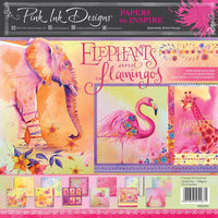 Pink Ink - Elephants & Flamingos - 8