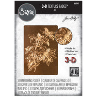 Sizzix - Texture Fades Embossing Folder By Tim Holtz -  Poinsettia