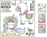 Tin Pin - Drama Llama POL361 - Clearstamp