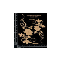 Scrapaholics - Rose Flourish Corners Chipboard