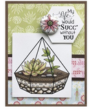 Darcie's Clear Polymer Stamp Set - Flower Pail - POL386