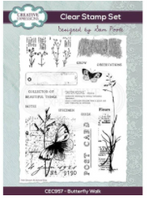 Creative Expressions - Sam Poole Butterfly Walk A5 Clear Stamp Set