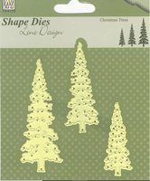 Nelle's Choice - Shape Dies - Lene Design - SDL026 Christmas Trees