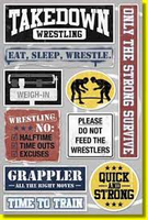 Wrestling Sticker - Karen Foster