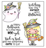 Darcie's Clear Polymer Stamp Set - Witching You Cutest - POL403