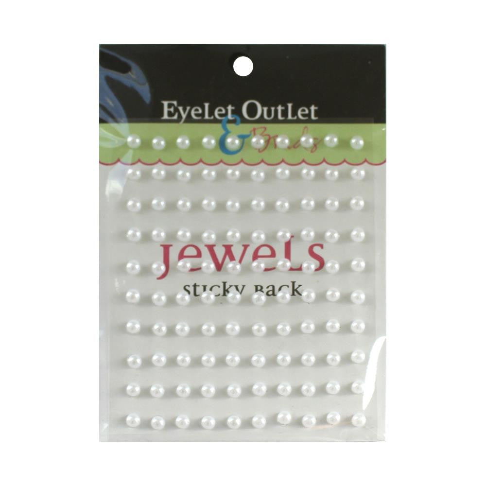 Eyelet Outlet-100 White Pearls