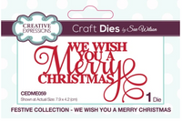 Creative Expressions - Mini Expressions Collection - We Wish You a Merry Christmas - CEDME059