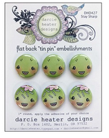 Darcie Heater Designs Flat Back Tin Pin - Stay Sharp - DHD427