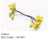 ICraft Frosted Berry Pollens - Yellow