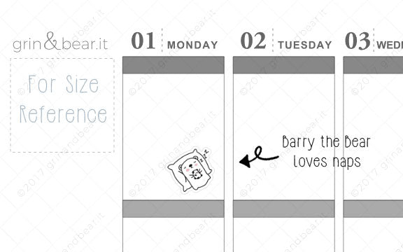 Barry Loves Naps! - Barry the Bear Stickers (BB020)