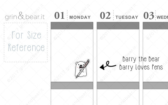 Barry Hoards Pens! - Barry the Bear Stickers (BB033)