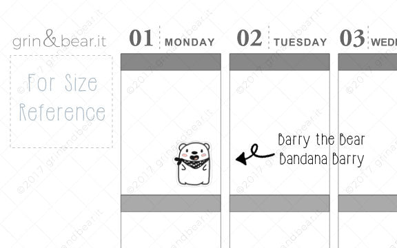Bandana Barry! - Barry the Bear Stickers (BB049)