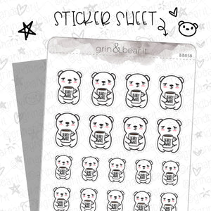 Bearly Awake Barry! - Barry the Bear Stickers (BB058)