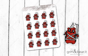 Barry as Deadpool! - Barry the Bear Stickers (BB067)